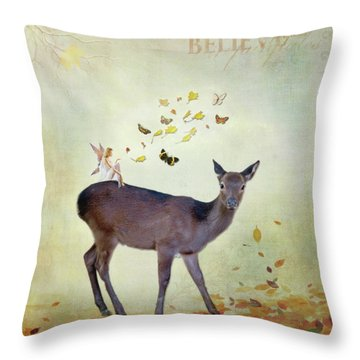 Throw Pillow featuring the digital art Believe by Sue Collura