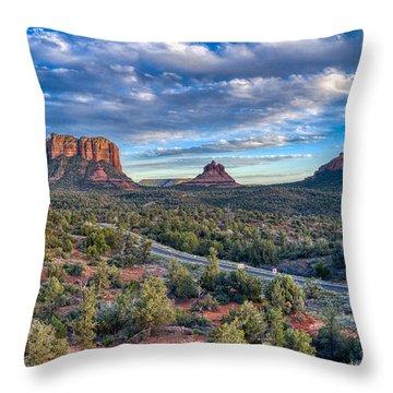 Bell Rock Scenic View Sedona Throw Pillow
