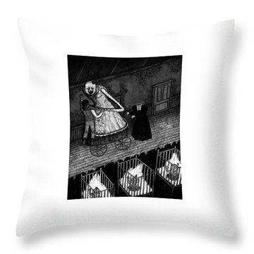 Bella The Nightmare Carriage - Artwork Throw Pillow
