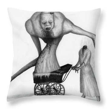 Bella The Nightmare Carriage Updated - Artwork Throw Pillow