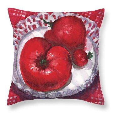 Bella Tomatoes Throw Pillow