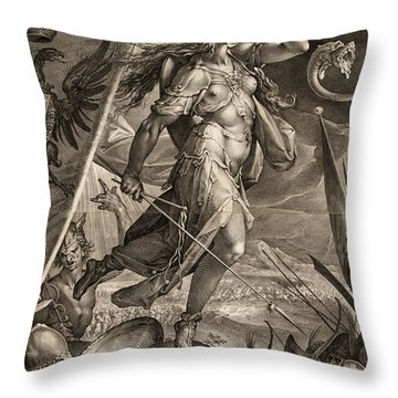 Bellona Leading The Armies Of The Emperor Against The Turks, 1600 Throw Pillow