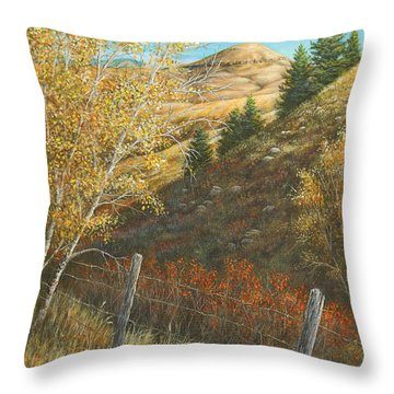 Belt Butte Autumn Throw Pillow