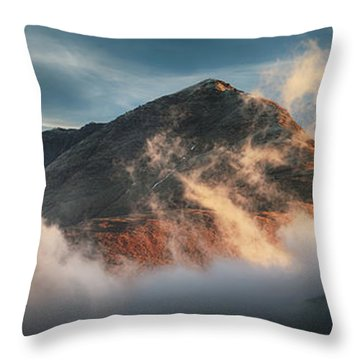 Throw Pillow featuring the photograph Ben Lomond Misty Sunset by Grant Glendinning