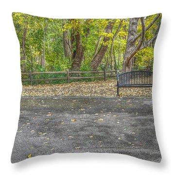 Bench @ Sharon Woods Throw Pillow