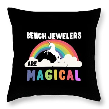 Throw Pillow featuring the digital art Bench Jewelers Are Magical by Flippin Sweet Gear