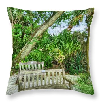 Bench View Throw Pillow