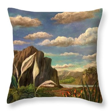 Beneath The Clouds Of Africa Throw Pillow