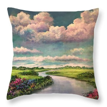 Beneath The Clouds Of Paradise Throw Pillow