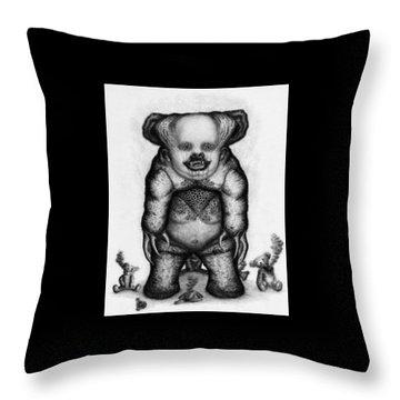 Benjamin The Nightmare Bear - Artwork Throw Pillow