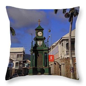 Throw Pillow featuring the photograph Berkeley Memorial Clock by Tony Murtagh