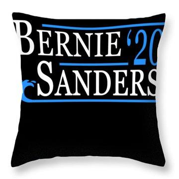 Bernie Sanders Blue Wave 2020 Throw Pillow