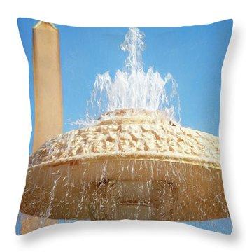 Bernini Fountain St Peter's Square Vatican City Throw Pillow