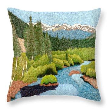 Berthoud Pass Throw Pillow
