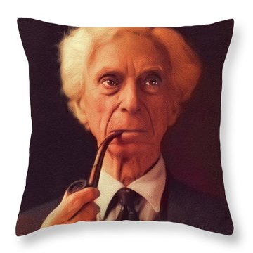 Bertrand Russell, Philosopher Throw Pillow