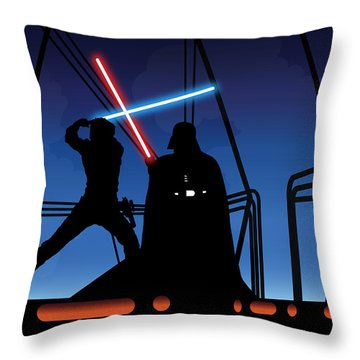 Bespin Duel Throw Pillow