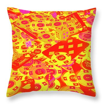 Betting Background Throw Pillow