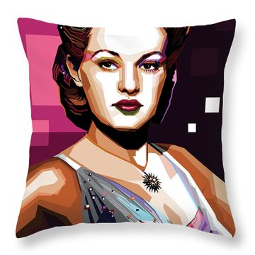Betty Grable Throw Pillow