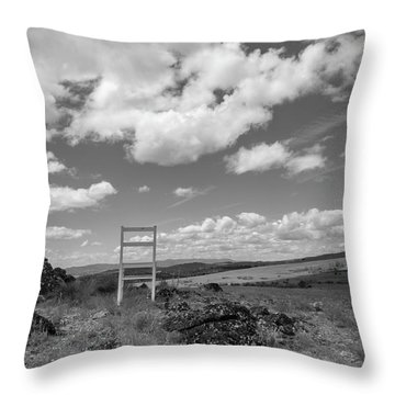 Beyond Here The Chair Project Throw Pillow