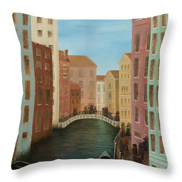 Beyond The Grand Canal Throw Pillow