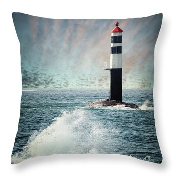 Beyond The Northern Waves Throw Pillow