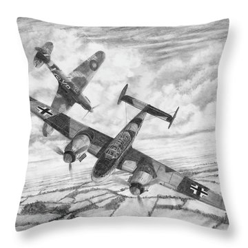Bf-110c Zerstorer Throw Pillow