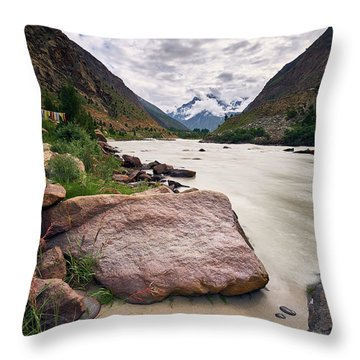 Throw Pillow featuring the photograph Bhag River by Whitney Goodey