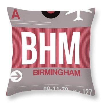 Bhm Birmingham Luggage Tag II Throw Pillow