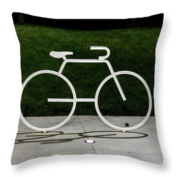 Throw Pillow featuring the photograph Bicycle by Randy Scherkenbach