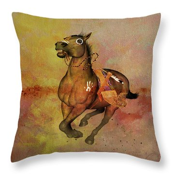 Throw Pillow featuring the painting Bid For Freedom by Valerie Anne Kelly