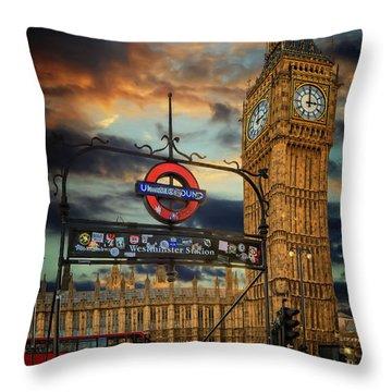 Big Ben London City Throw Pillow
