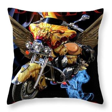 Biker Forever Throw Pillow