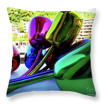 Throw Pillow featuring the photograph Bilbao Bouquet by Rick Locke