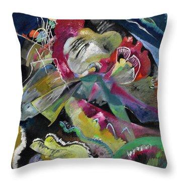 Bild Mit Weissen Linien - Painting With White Lines Throw Pillow