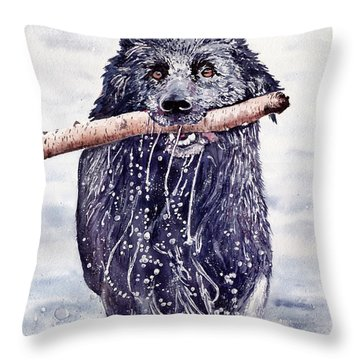 Bill Out Of The Blue Throw Pillow