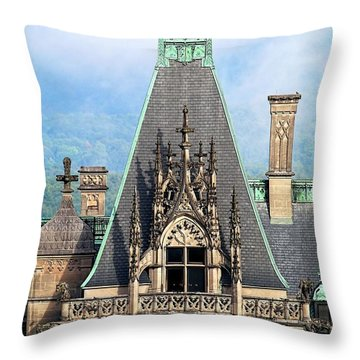 Biltmore Architectural Detail  Throw Pillow