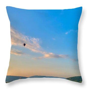 Binghamton Spiedie Festival Air Ballon Launch Throw Pillow