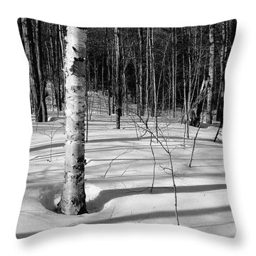 Birch Shadow. Throw Pillow