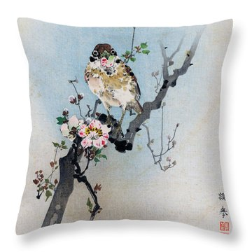 Bird And Petal Throw Pillow
