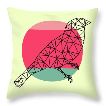 Bird And Sunset Throw Pillow