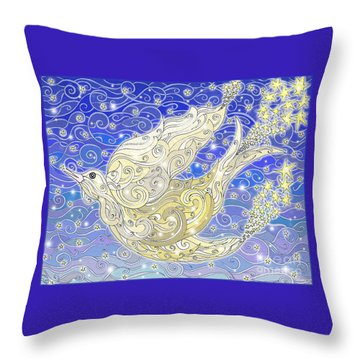 Bird Generating Stars Throw Pillow
