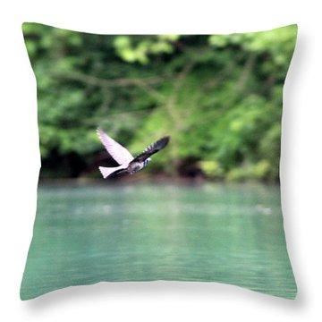 Bird In Flight Throw Pillow