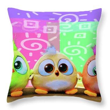 Birds In The Nursery Throw Pillow