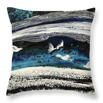 Birds Of Paradise #5 Throw Pillow