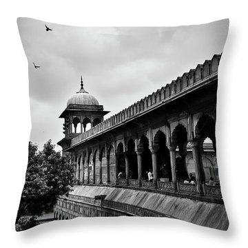 Throw Pillow featuring the photograph Birds Over The Jama Masjid by Whitney Goodey