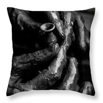 Birth Of A Clay Pot Throw Pillow