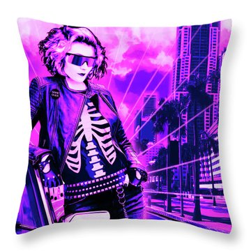 Biscayne And 5th Throw Pillow