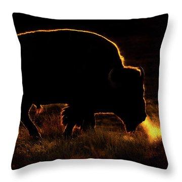 Bison Breath Throw Pillow