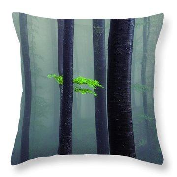 Bit Of Green Throw Pillow