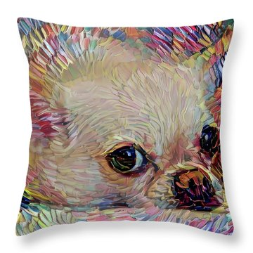 Bitsy The Chihuahua Throw Pillow